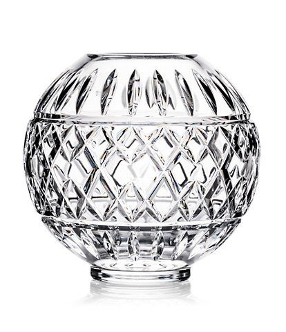 Waterford Crystal Glandore Rose Bowl 6 Double Waterford Crystal Vase Waterford Crystal Crystals