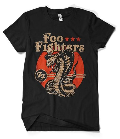 Foo Fighters T-Shirt Merch official licensed music t-shirt. New States Apparel Unisex SoftStyle S, M, L, XL. Shop at Musico clothing online store. Free shipping USA, UK and worldwide.