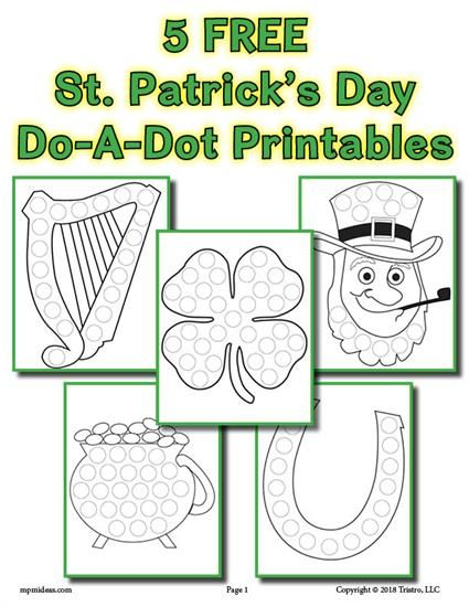 5 St Patrick S Day Do A Dot Printables Do A Dot St Patricks