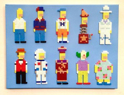 Many Faces Of Homer Simpson Retro Simpsons Pixel Art 8 Bit