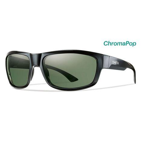 9e1d0db1b2d Smith Sunglasses Dover Black ChromaPop Polarized Grey Green ...