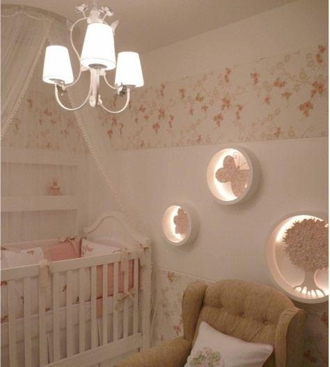 Quarto De Bebe Feminino Com Nichos ~   nurseries room quartos bebe decoracao quarto de bebe decora??o