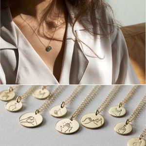Hand Gestures Necklaces Friend Necklaces Bff Necklaces Best