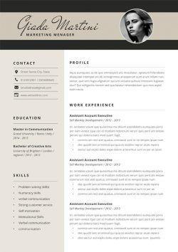 Cv Marketing Digital Marketing Resume Cv Template Resume Examples