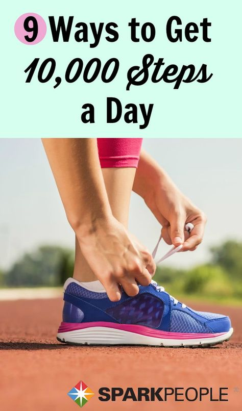It's not as easy to get 10K steps as some people might think. Here's how to make it happen every day. | via @SparkPeople #fitness #exercise #workout #walk #motivation