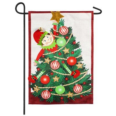 Elf  Evergreen garden flag