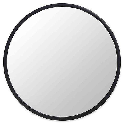 Umbra Hub 24 Inch Round Wall Mirror In Black Bed Bath Beyond