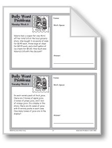 Try our daily thematic word problems with Week 09: Grocery ...