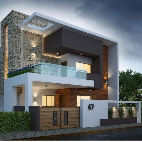 Home Luxury Exterior 21 Ideas For 2019 Duplex House Design Modern Exterior House Designs Modern House Facades