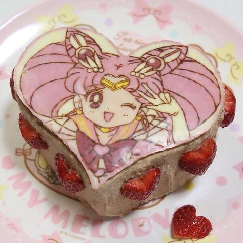 Immagine di sailor moon, cake, and pink Sailor Moon Birthday, Sailor Moon Party, Pretty Cakes, Cute Cakes, Sailor Moon Cakes, Moon Food, Anime Cake, Cute Birthday Cakes, Japanese Snacks