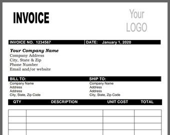 Invoice Template Photography Invoice Business Invoice Etsy Photography Invoice Invoice Template Photography Invoice Template