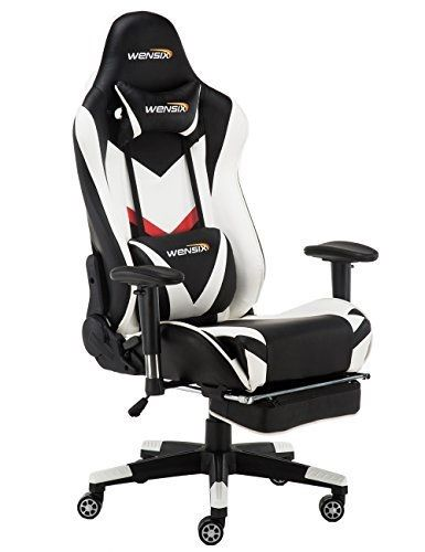 Magnificent Wensix Gaming Chair Ergonomic Racing Style Computer Chair Gmtry Best Dining Table And Chair Ideas Images Gmtryco