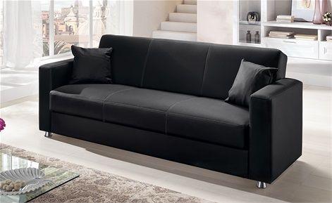 Divano Di Pelle Nero.Divano In Pelle Nero Sofa Leather Black Livingroom Home