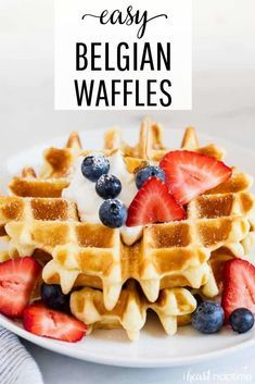 Belgian Waffles - Perfectly crispy soft light and fluffy waffles. Made with common pantry staples and ready in just 20 minutes! #waffles #wafflerecipes #breakfast #breakfastrecipes #breakfastideas #brunch #brunchrecipes #brunchideas #homemade #easyrecipe #recipes #iheartnaptime Belgian Waffles - Perfectly crispy soft light and fluffy waffles. Made with common pantry staples and ready in just 20 minutes! #waffles #wafflerecipes #breakfast #breakfastrecipes #breakfastideas #brunch #brunchrecipes #