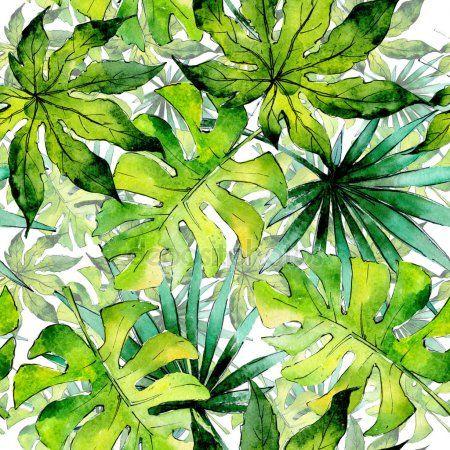 Tropischen Hawaii Lasst Pflanzen Muster Im