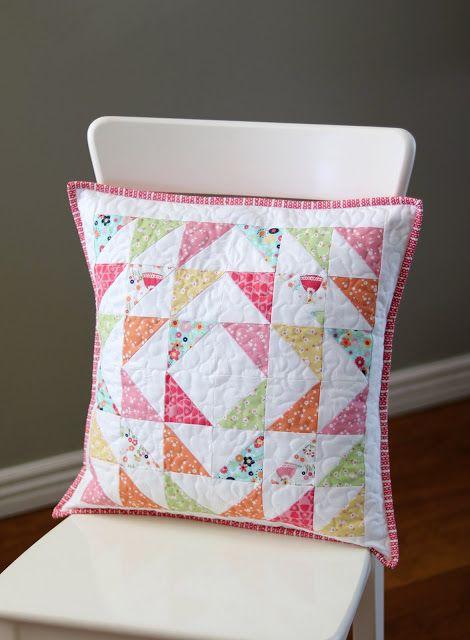 Pair Of Pillows Trish And Birdie Fabric Quilted Pillow Covers Quilted Pillow Quilt Pillow Case