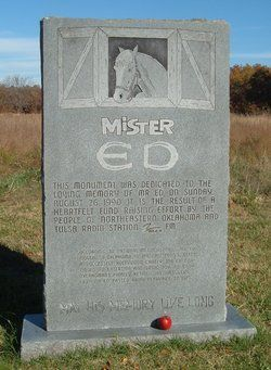 Grave Marker for Mister Ed – Mister Ed was a Palomino horse officially named Bamboo Harvester and trained by Lester Hilton. The producer of the Mister Ed TV series never would answer the question of how the horse's lips were made to move.