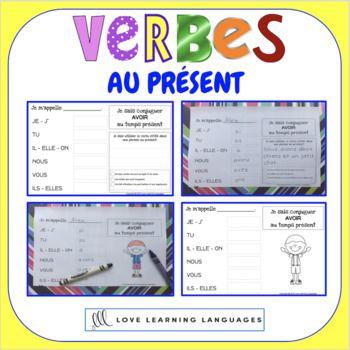 French Present Tense 60 Verb Conjugation Charts Primary French Immersion Conjugation Chart Verb Conjugation Verb
