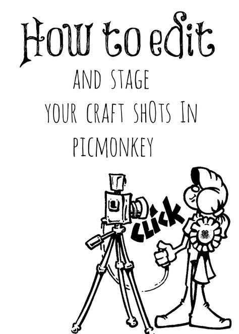 How to edit and stage your crafts shots in picmonkey #debbiedoos