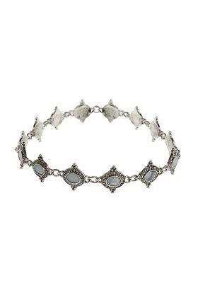 Enge, gravierte Halskette mit Perlmutterverzierung