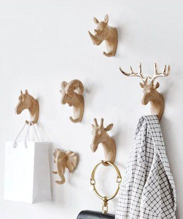 Modern Wall Hooks Animal Decorative Wall Hooks Handmade Coat Etsy Decorative Wall Hooks Modern Wall Hooks Wall Hooks