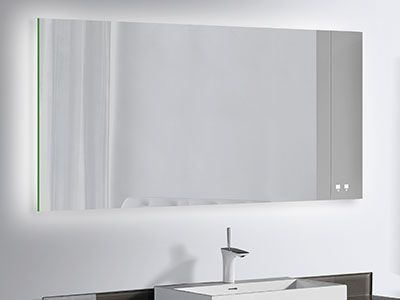 The Image Illuminated Slique Mirror Is The Essence Of Modern Simplicity While Offering You The Utmost In Smar Small Bathroom Decor Illuminated Mirrors Mirror