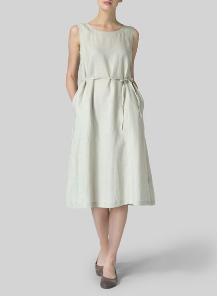 7d4a37db46 VIVID LINEN - Perfect summer dress- elegant and ladylike  ties at the waist  let