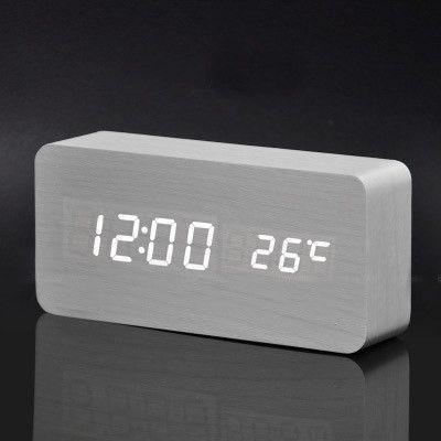 Wooden Alarm Clock Radio Reveil Reveil