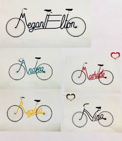 Personalized Name Bikes Name Art Projects Middle School Art