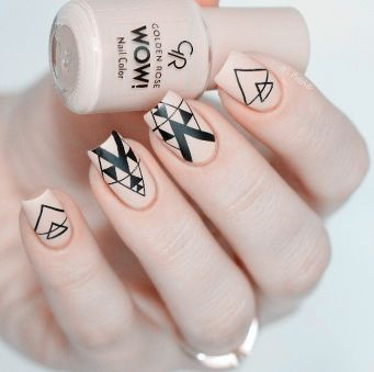 The post Negative Space Triangle Pattern Nail Art Design Stickers . # appeared first on nageldesign.