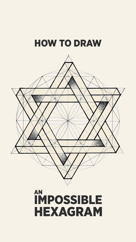 An Impossible Hexagram | Meditative Drawing Art