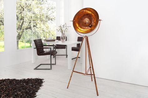 Stehlampe 'STUDIO', Retro, Lampe, Vintage, Kupfer, Aluminium, H: bis 160cm | eBay