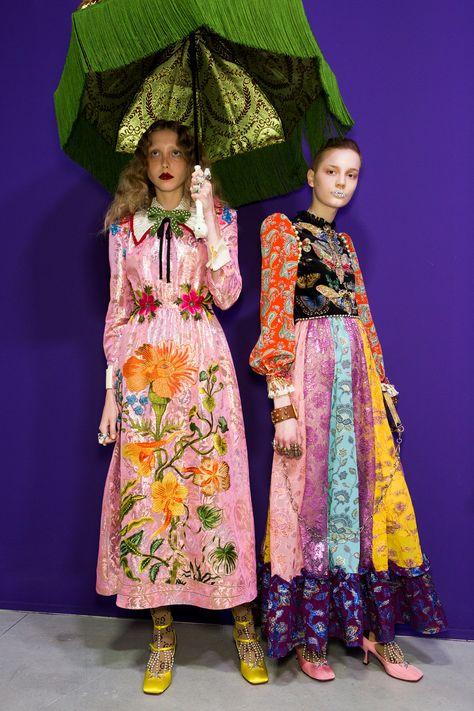 Gucci at Milan Fashion Week Fall 2017 - Backstage Runway Photos