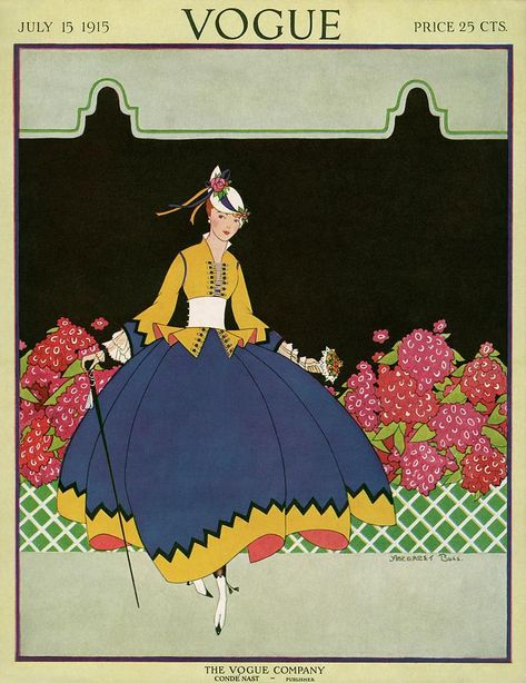 Vogue Cover - July 1915 Poster Print by Margaret B. Bull at the Condé Nast Collection