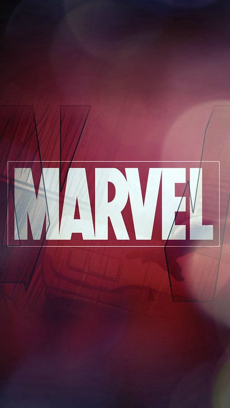 Marvel Logo Film Art Illust Minimal Bokeh iPhone 8 Wallpapers