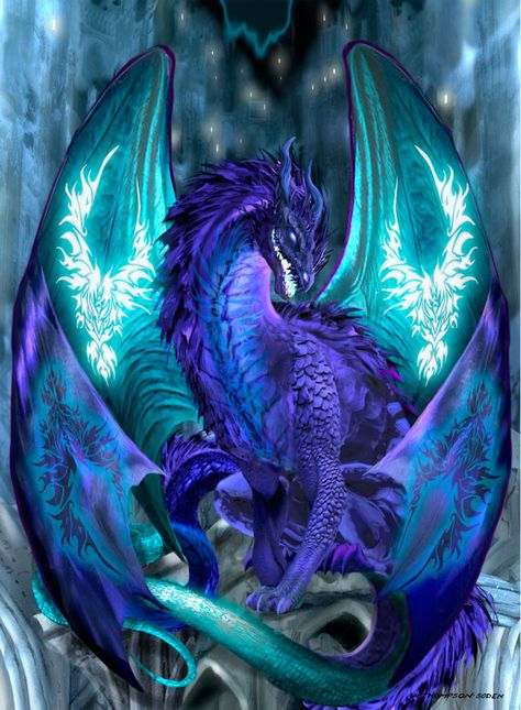 Ice Dragon Cross Stitch Pattern Uses 116 colors Please note that this is for a digital pattern only not the completed item, floss or cloth. You will receive one Mythical Creatures Art, Mythological Creatures, Magical Creatures, Mystical Creatures Drawings, Dragon Bleu, Ice Dragon, Dragon Manga, Dragon Light, Cartoon Dragon