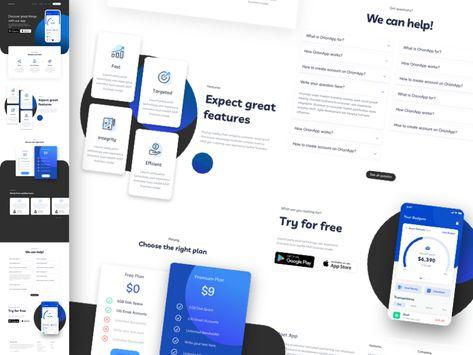Budget App Landing Page Concept Sketch Freebie