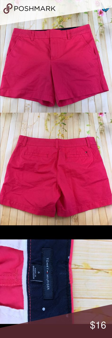 Classic Tommy Hilfiger shorts Cute raspberry pink colored classic shorts great for summer in euc size 6 Tommy Hilfiger Shorts