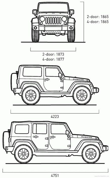 Great Jeep Wrangler Dimensions 2 Door Jeep Drawing Jeep Art