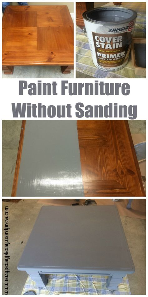 Diy Table To Ottoman And How To Paint Furniture Without Sanding Easy Peasy Pleasy Painting Wood Furniture Painted Furniture Paint Furniture