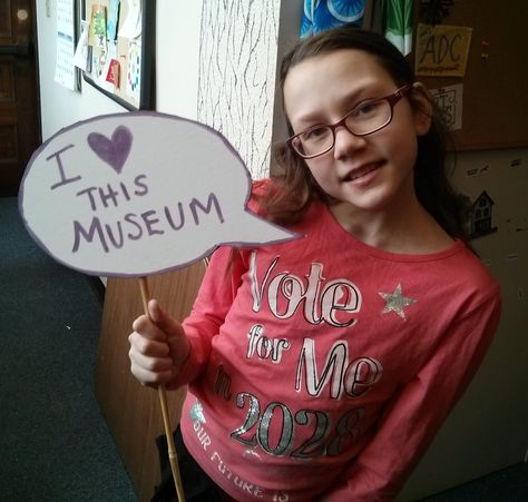 Showing off signs from our new photo booth!  #springfieldmuseums  I love this museum!