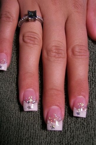 upon a star french Nails by Janya by NailzbyJanya - Nail Art Gallery by Nails Magazine