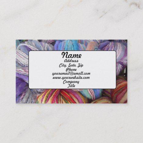 Yarn Business Card Zazzle Com Yarn Business Customizable Business Cards Crochet Business