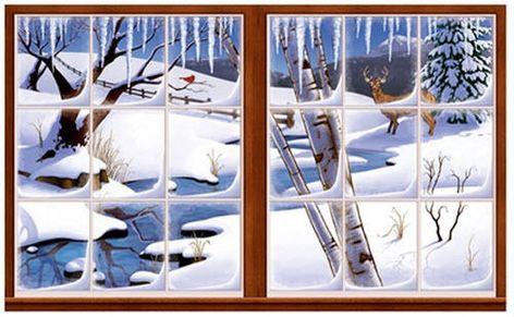 Scène Setter Noël magique Kit de décoration Art Mural