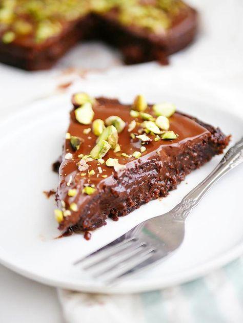 kladdkaka med chokladglasyr