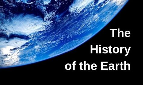 History of the earth and geological time scale