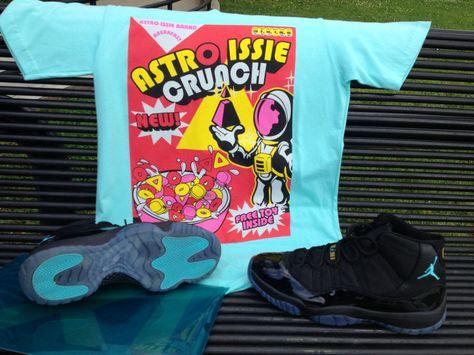 5e2e63ac8d0d7 Nike Air Jordan Sneakerhead 1980s Spaceman Crunch Cereal Blue Tee T Shirt  Kanye | eBay