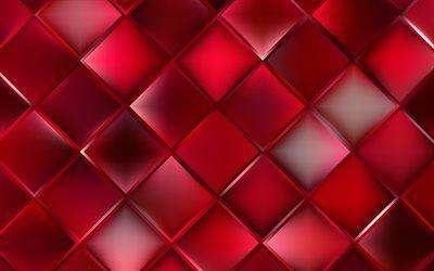 تحميل خلفيات الأحمر معينات خلفية حمراء الهندسة معينات الملمس الأشكال الهندسية الأحمر الملخص الخلفية Besthqwallpapers Com Red Background Abstract Backgrounds Abstract