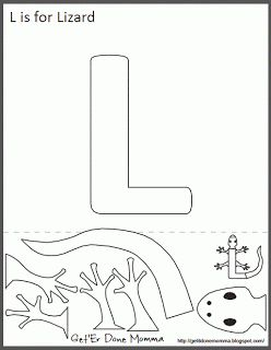Animal Alphabet Crafts: L is for Lizard
