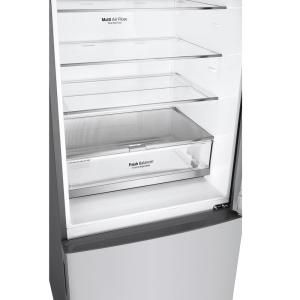 Lg Electronics 14 7 Cu Ft Bottom Freezer Refrigerator With Door Cooling And Reversible Door In Platinum Silver Lbnc15231v The Home Depot In 2020 Bottom Freezer Refrigerator Bottom Freezer Refrigerator
